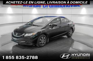 Used 2014 Honda Civic LX + GARANTIE + A/C + CRUISE + WOW !! for sale in Drummondville, QC
