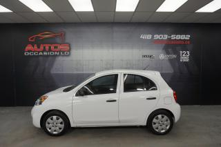 Used 2015 Nissan Micra S AUTOMATIQUE + AIR CLIMATISÉ + CRUISE + 81 562 KM for sale in Lévis, QC