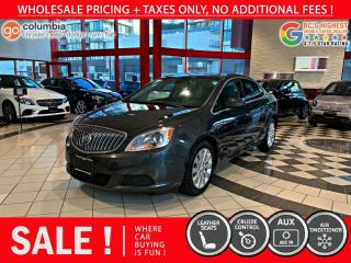 Used 2017 Buick Verano Base - No Dealer Fees / Local / Leather for sale in Richmond, BC