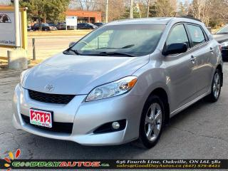 Used 2012 Toyota Matrix SINGLE OWNER|LOW KM|NO ACCIDENT|SUNROOF|CERTIFIED for sale in Oakville, ON