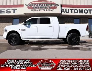 Used 2018 RAM 2500 LARAMIE SPORT MEGA CAB CUMMINS 4X4, LOADED, SHARP! for sale in Headingley, MB