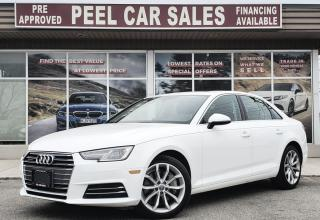 Used 2017 Audi A4 PROGRESSIVE|PRE-CERTIFIED|PRICE.MATCH.POLICY|CLEANCARFAX| for sale in Mississauga, ON