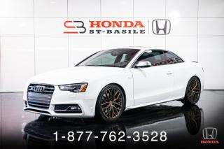 Used 2017 Audi S5 PROGRESSIV + AUTO + A/C + CAMERA + WOW! for sale in St-Basile-le-Grand, QC