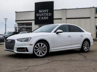Used 2018 Audi A4 AWD|KOMFORT|SUNROOF|CAMERA|HEATED STEERING|ALLOYS for sale in Kitchener, ON