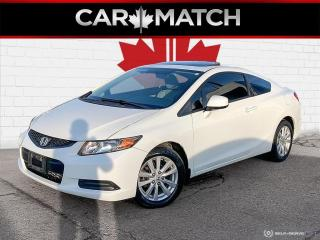Used 2012 Honda Civic Coupe EX / AUTO / SUNROOF / ALLOY WHEELS for sale in Cambridge, ON
