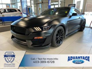 Used 2017 Ford Mustang Shelby GT350 MATTE BLACK VINYL WRAPPED SHELBY GT350 for sale in Calgary, AB