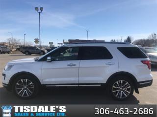 Used 2019 Ford Explorer Platinum  - Sunroof -  Navigation for sale in Kindersley, SK