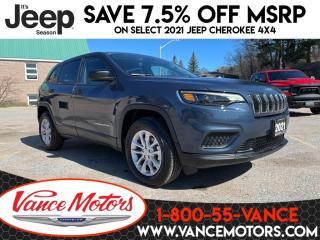 New 2021 Jeep Cherokee Sport 4x4...HTD SEATS*BACKUP CAM*BLUETOOTH! for sale in Bancroft, ON