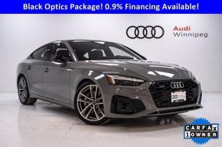 Used 2020 Audi A5 Sportback Technik w/Advanced Driver Assist & S-Line *DEMO* for sale in Winnipeg, MB