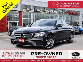 Used 2018 Mercedes-Benz E-Class 4matic   Prem PKG   360 CAM   Burm Spkrs   HUD for sale in Richmond Hill, ON