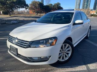 Used 2013 Volkswagen Passat Highline TDI LEATHER SUNROOF LIKE  NEW 79000 KM !! for sale in Concord, ON