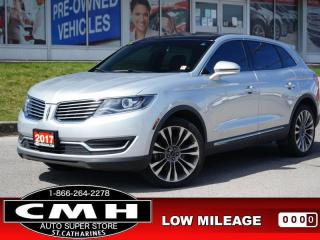 Used 2017 Lincoln MKX Reserve  NAV CAM ADAP-CC LANE-KEEP ROOF LEATH for sale in St. Catharines, ON