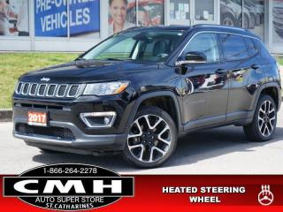 Used 2017 Jeep Compass Limited  NAV CAM ROOF LEATH HTD-S/W 19-AL for sale in St. Catharines, ON