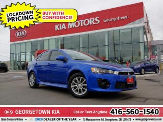 Used 2016 Mitsubishi Lancer SE AWD| 1 OWNR | CLN CRFX | B/TOOTH | ALLOYS | 77K for sale in Georgetown, ON