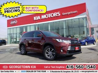 Used 2017 Toyota Highlander XLE | 1 OWNR | 8 PASS | LTHR | NAV | B/U CAM | 42K for sale in Georgetown, ON