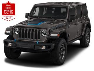New 2021 Jeep Wrangler Unlimited 4xe Lthr-faced w/Rubicon(R) & utility grid,Remote proximity keyless entry, Heated seats and Steering whe for sale in North York, ON