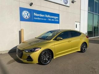 Used 2018 Hyundai Elantra SPORT 6SPD M/T - LEATHER / SUNROOF / APP CONNECT / LOADED! for sale in Edmonton, AB