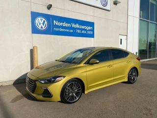 Used 2018 Hyundai Elantra SPORT - LEATHER / SUNROOF / HYUNDAI SAFETY SENSE for sale in Edmonton, AB