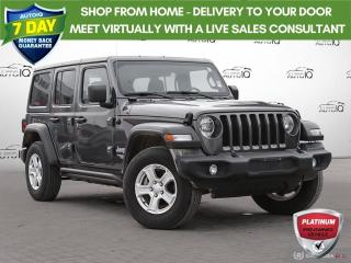 Used 2019 Jeep Wrangler Unlimited Sport | NO ACCIDENTS | REAR BACKUP CAMERA | for sale in Barrie, ON