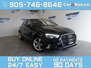 Used 2017 Audi A3 QUATTRO | LEATHER | SUNROOF | ONLY 33 KM! for sale in Brantford, ON