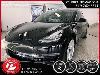 Used 2019 Tesla Model 3 STANDARD (frais vip 395$ non inclus) for sale in Rouyn-Noranda, QC