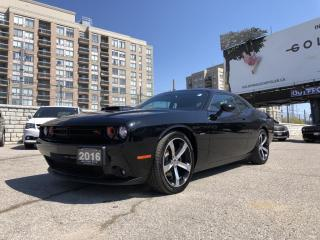 Used 2016 Dodge Challenger R/T Premium Unleaded V-8 5.7 L/345 engine powering this Manual transmission,  ParkView Rear Back-Up Came for sale in North York, ON