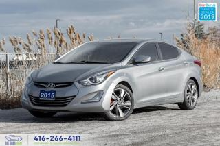 Used 2015 Hyundai Elantra Limited Navi Leather heated seats Clean Carfax  for sale in Bolton, ON