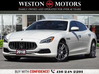 Used 2018 Maserati Quattroporte S Q4 GRANLUSSO*V6 3.0L*SUNROOF*LEATHER*NAVI for sale in Toronto, ON