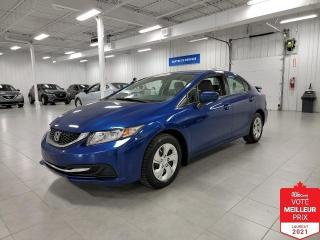 Used 2015 Honda Civic LX - BAS KILOMETRAGE + JAMAIS ACCIDENTE !!! for sale in Saint-Eustache, QC