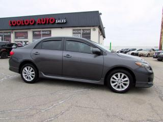 Used 2010 Toyota Corolla S Automatic Alloys Sedan No Accident Certified for sale in Milton, ON