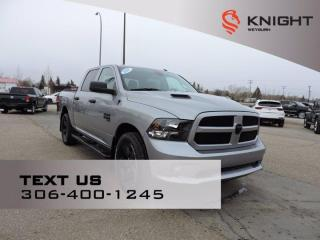 New 2021 RAM 1500 Classic Express | Night Edition | B/U Camera | Fog Lamps | Wheel & Sound Pkg | Sport Performance Hood for sale in Weyburn, SK