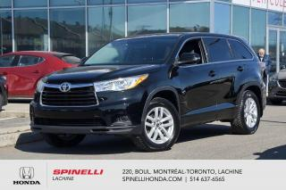 Used 2016 Toyota Highlander LE AWD 8 PASS 8 PNEUS AWD MAGS BLUETOOTH CAM RECUL 8 PASS++ for sale in Lachine, QC