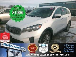 Used 2020 Kia Sorento LX* Reverse Camera/Bluetooth/Heated Seats/AWD for sale in Winnipeg, MB