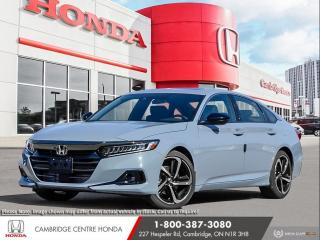 New 2021 Honda Accord Sport 2.0T POWER SUNROOF | APPLE CARPLAY™ & ANDROID AUTO™ | HONDA SENSING TECHNOLOGIES for sale in Cambridge, ON