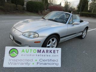 Used 2005 Mazda Miata MX-5 AUTO, NAVI, ROLL BAR, INSP, WARR & BCAA MEMBERSHIP for sale in Surrey, BC