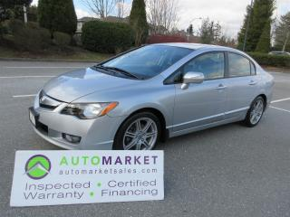 Used 2009 Acura CSX PREMIUM, AUTO, INSP, 4x NEW BRAKES, FREE BCAA MBSHP, FREE WARRANTY AND FINANCING! for sale in Surrey, BC