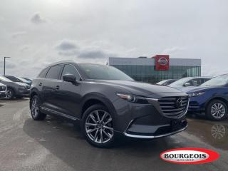 Used 2016 Mazda CX-9 Signature 3 ZONE CLIMATE CONTROL, REAR SEAT ENTERTAINMENT SYSTEM, NAVIGATION, BLIND SPOT WARNING for sale in Midland, ON
