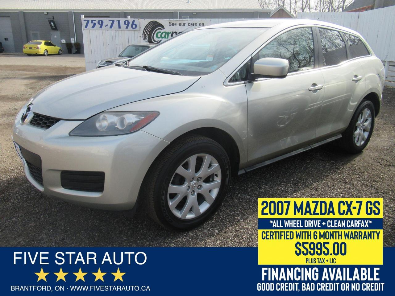2007 Mazda CX-7 GS AWD *Clean Carfax* Certified + 6 Month Warranty