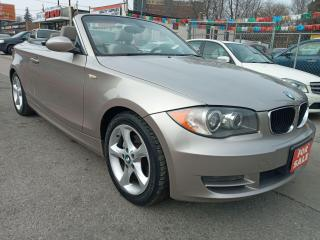 Used 2008 BMW 128I 128i-CONVERTIBLE-LEATHER-BLUETOOTH-AUX-ALLOYS for sale in Scarborough, ON