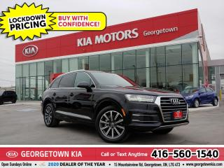 Used 2017 Audi Q7 TECHNIK | 1 OWNR| CLN CRFX| 7 PASS| PANO ROOF| 48K for sale in Georgetown, ON