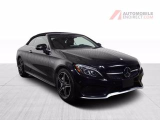 Used 2017 Mercedes-Benz C-Class C43 AMG Convertible V6 Bi Turbo 4Matic Cuir GPS for sale in St-Hubert, QC