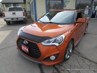 Used 2014 Hyundai Veloster 6-SPEED MANUAL TURBO EDITION 4 PASSENGER 1.6L - DOHC.. LEATHER.. HEATED SEATS.. POWER SUNROOF.. BACK-UP CAMERA.. BLUETOOTH SYSTEM.. for sale in Bradford, ON