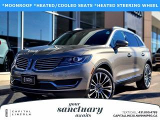 Used 2016 Lincoln MKX RESERVE AWD for sale in Winnipeg, MB