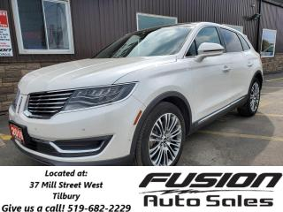 Used 2016 Lincoln MKX Reserve-AWD-NAVIGATION-PAN ROOF-BLIND SPOT DETECTI for sale in Tilbury, ON