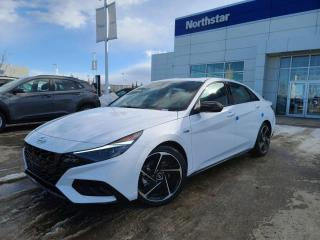 New 2021 Hyundai Elantra N LINE MANUAL: 1.6L TURBO/UPGRADED STEREO/ADAPTIVE CRUISE/COOLED SEATS for sale in Edmonton, AB