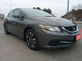 Used 2013 Honda Civic EX-ONLY 106K-ECO-BK UP CAM-BLUETOOTH-AUX-ALLOYS for sale in Scarborough, ON