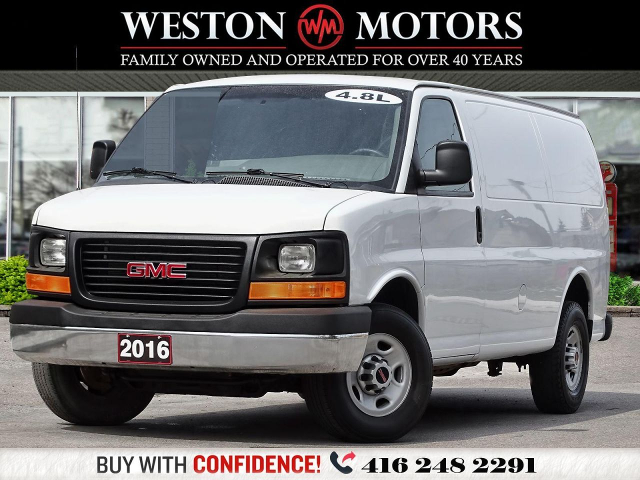 2016 GMC Savana 2500 4.8L*BARN DOORS*POWER CONTROLS