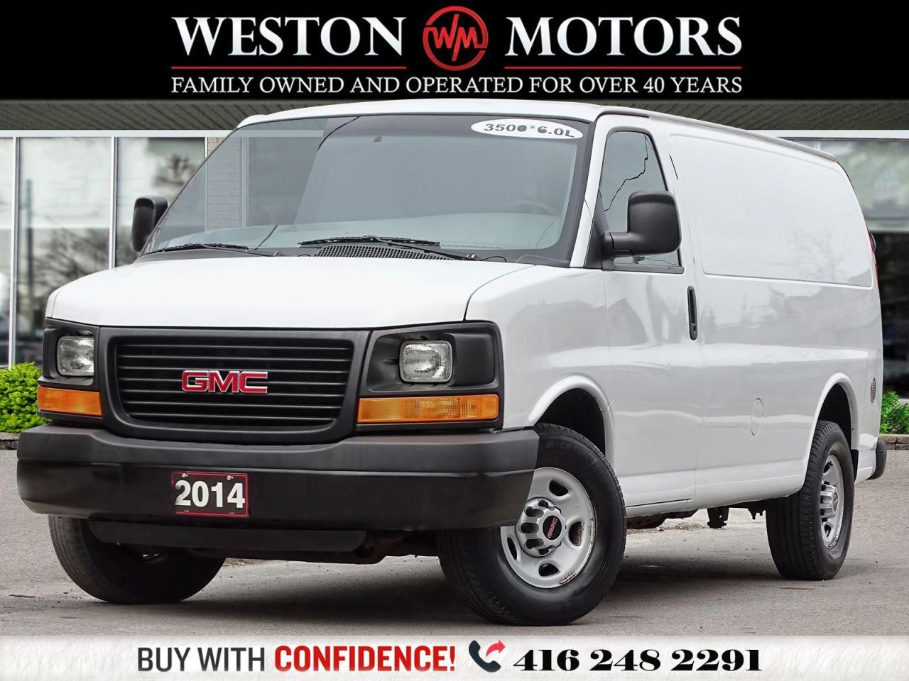 2014 GMC Savana 3500 6.0L*SLIDING DOOR*SHELVING*POWER CONTROLS