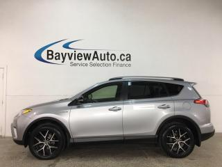 Used 2018 Toyota RAV4 Hybrid SE - HTD LEATHER! SUNROOF! NAV! PWR LIFTGATE! + MUCH MORE! for sale in Belleville, ON