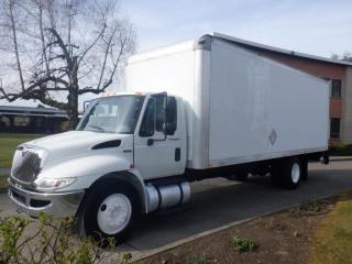 Used 2013 International 4300 22 Foot Cube Van Diesel with Tailgate for sale in Burnaby, BC
